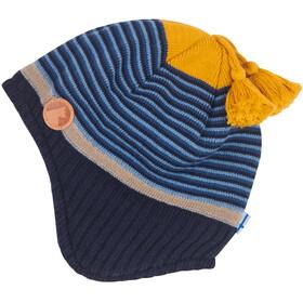 Finkid Tipi Bonnet en maille tricotée Enfant, blue mix